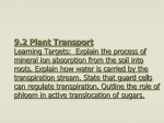 9.2 Plant Transport - Twanow