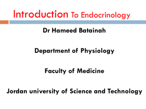 Introduction to Endocrinology