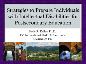 Strategies to prepare individuals with intellectual disabilities for