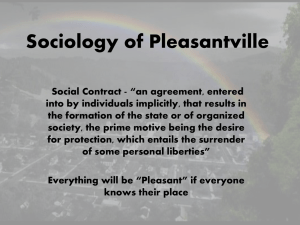 Sociology in Pleasantville