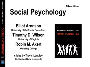 Social Psychology - Napa Valley College