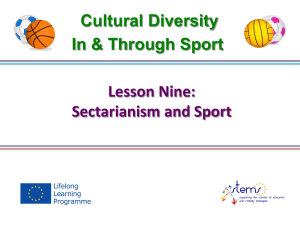 Sectarianism and Sport 3.2