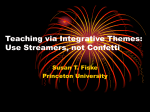 Teaching via integrative themes: Use streamers, not confetti