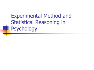 Experimental Method and Statistical Reasoning in Psychology