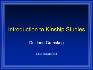Intro to Kinship Studies