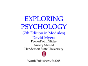 EXPLORING PSYCHOLOGY (7th Edition in