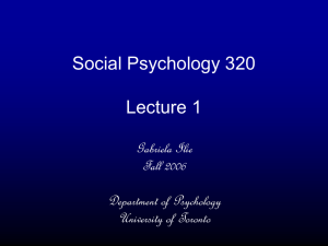 Lecture 1 - University of Toronto