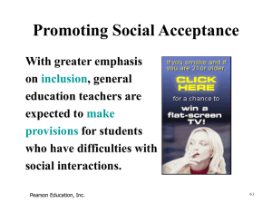 Promoting Social Acceptance