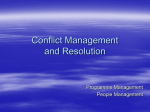 Conflict Management and Resolution Resource