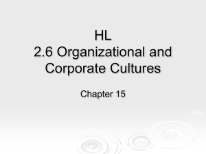 IB2 Ch 15 Organization and Corporate Culture