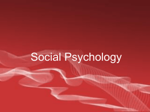 Social Psych_Slide Review