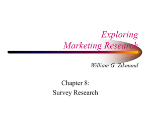 Chapter 8, Survey Research