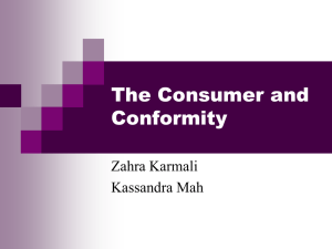 The Consumer and Conformity