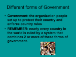 File forms of government