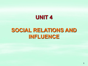 social relations and social influence
