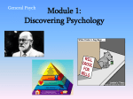 Module 1: Discovering Psychology