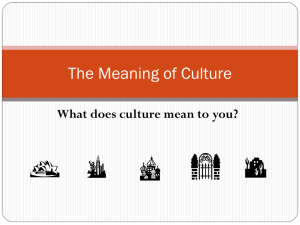 The Meaning of Culture - Introduction to Human Behavior