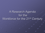 A Research Agenda for STEM Workforce in the 21st Century