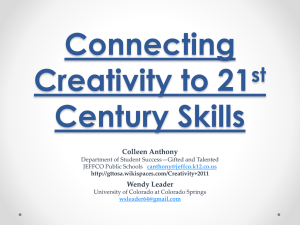 Connecting Creativity to 21st Century Skills - gttosa