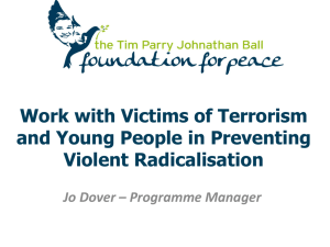 Work with Victims of Terrorism and Young People in Preventing