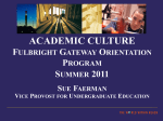 US Academic Culture - University at Albany