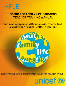 Health and Family Life Education TEACHER TRAINING MANUAL