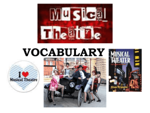 Musical Theatre Vocabulary Powerpoint