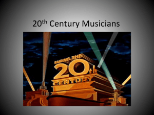 20th Century Musicians - Jamesville Dewitt School District
