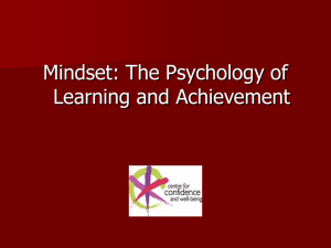 PowerPoint presentation about mindsets