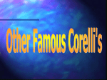 Other famous Corelli`s