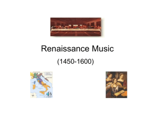 Renaissance Music - Raleigh Charter High School