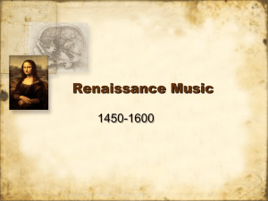 I Can: Classify music, people, and events of the Renaissance