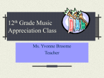 12th Grade Music Appreciation Class