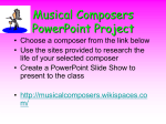 Musical Composers PowerPoint Project