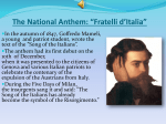 "The National Anthem: ""Fratelli d`Italia"""