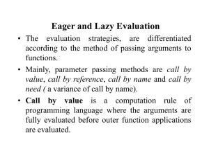 Lazy evaluation - Computer Science and Engineering