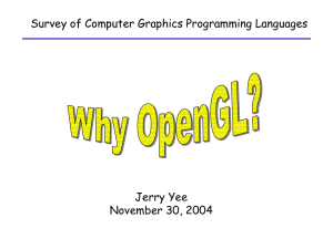 Survey of Computer Graphics Programming Languages