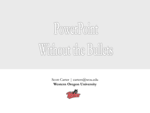 PowerPoint without Bullets (30 Min) - Scott Carter