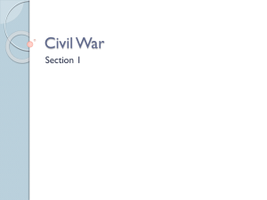 Civil War - Mrs. Huber`s Social Studies Class