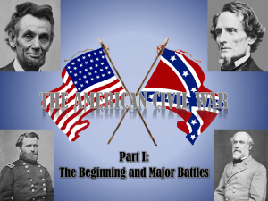 THE AMERICAN CIVIL WAR - McCullough Junior High