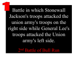 Battle in which Stonewall Jackson's troops attacked the