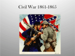 Civil War – 1861 to 1865