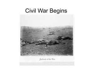 Civil War Begins - Mr. Hughes' Classes