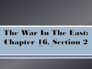 The War In The East: Chapter 16, Section 2