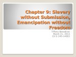 Chapter 9: Slavery without Submission