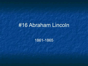 Abraham Lincoln Notes - Reading Community Schools