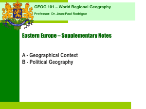 Eastern Europe - Supplementary Notes