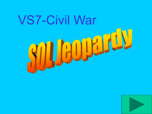 "CIVIL WAR ""Jeopardy"" Review Game"