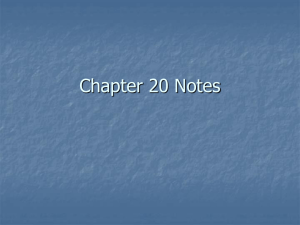 Chapter 20 Notes - Spokane Public Schools