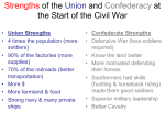 Strengths of the Union and Confederacy at the Start of